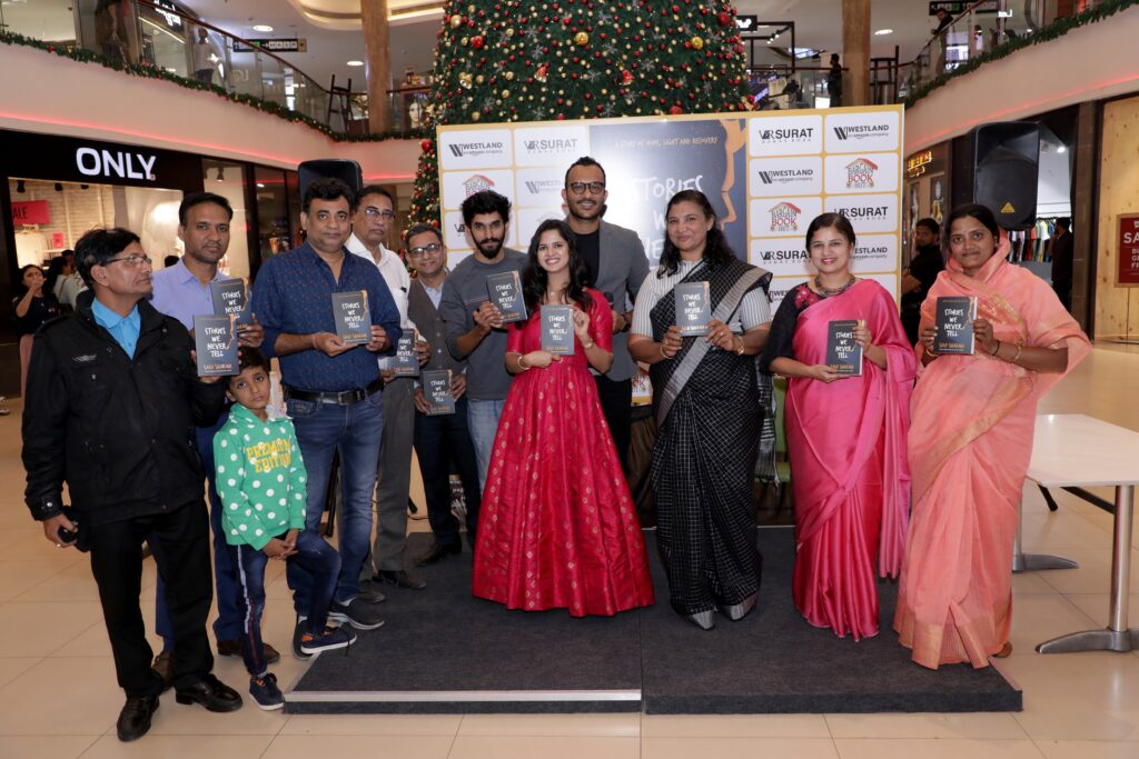 India's best/top-selling woman author Savi Sharma unveils her latest book 'Stories We Never Tell' at Surat