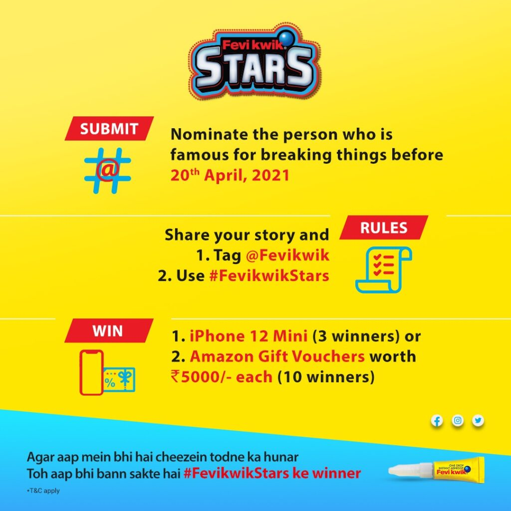 #FevikwikStars celebrates people who have a natural talent of breaking things.