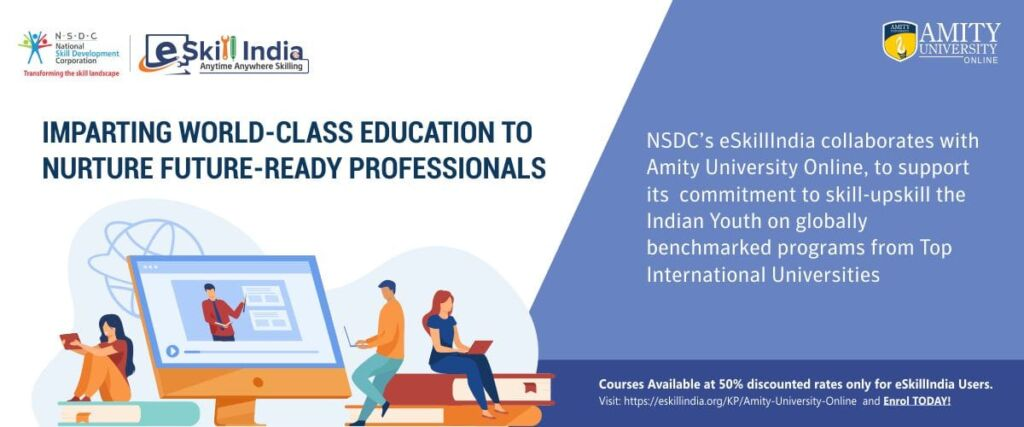 NSDC and Amity University Online collaborate to skill young learners professionally